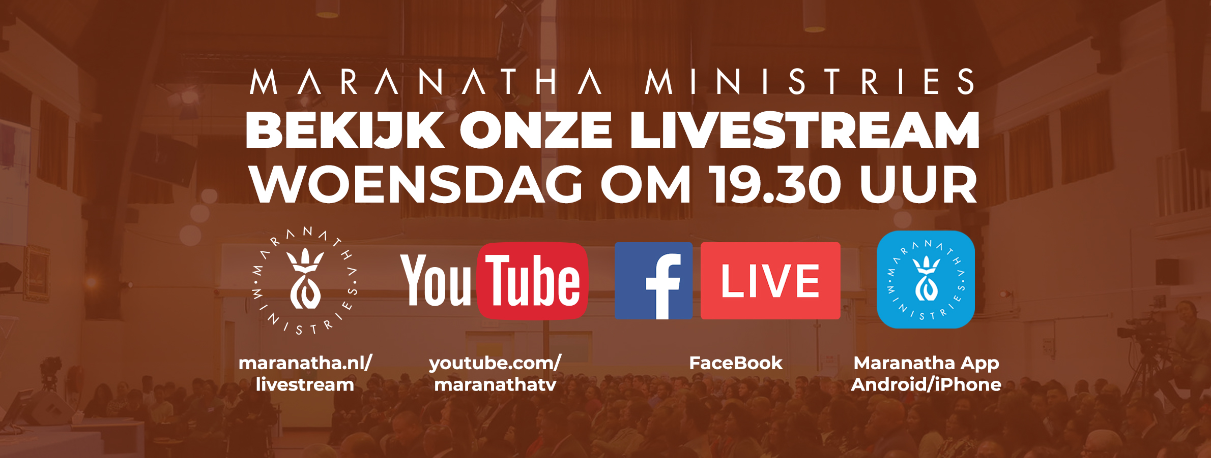 Vanavond om 19.30 uur: Livestream