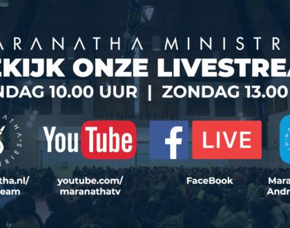 Zondag: Livestream Maranatha