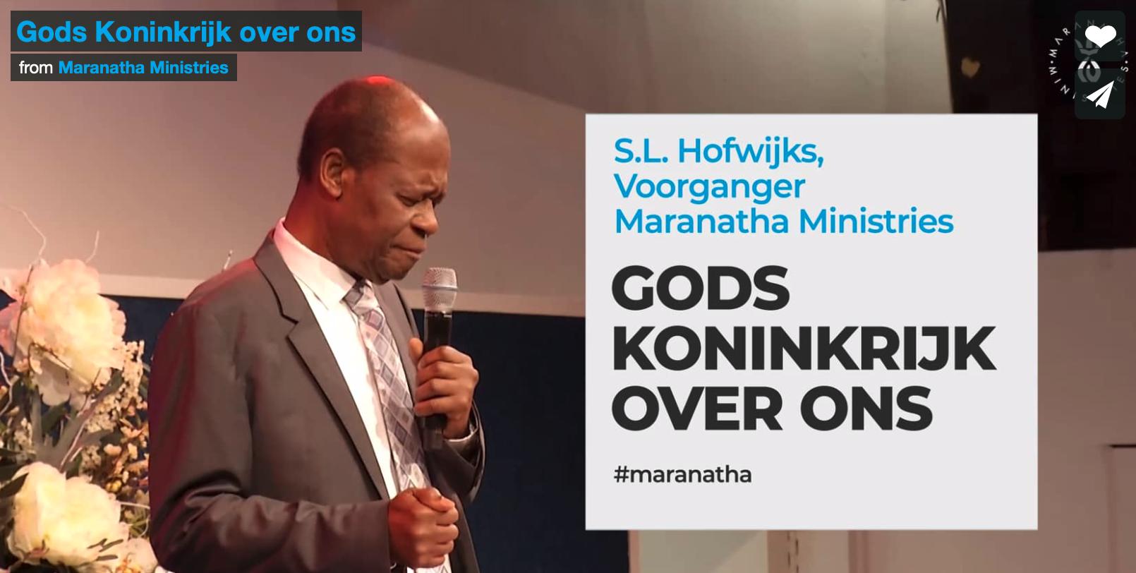 Preek: Gods Koninkrijk over ons