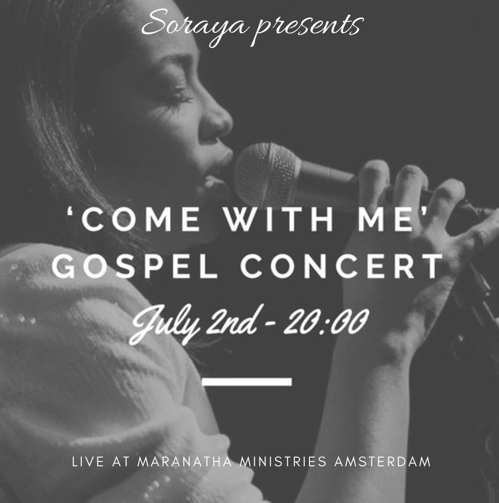 Vanavond: 'Come With Me' Gospelconcert Soraya