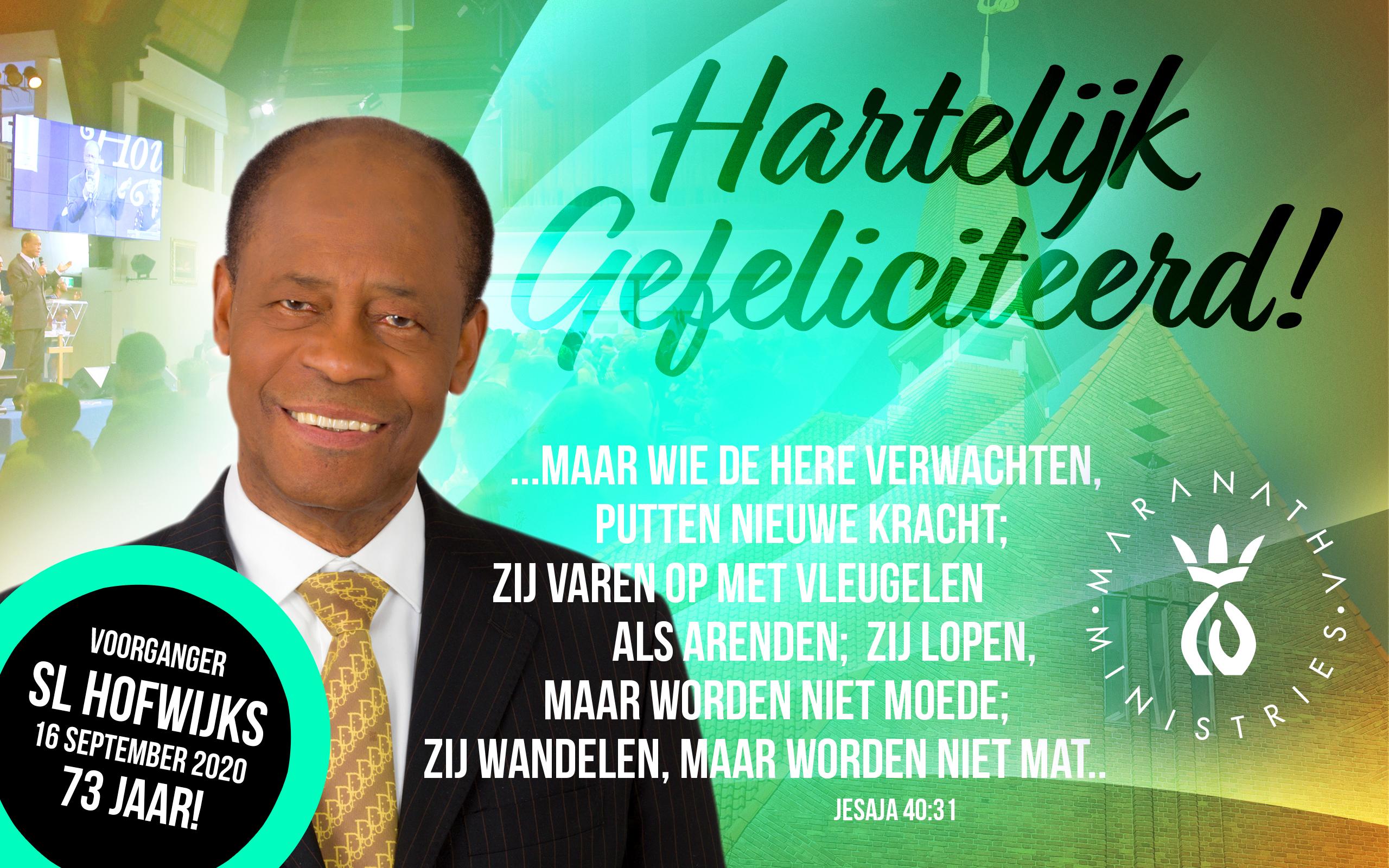 Verjaardag pastor S.L. Hofwijks