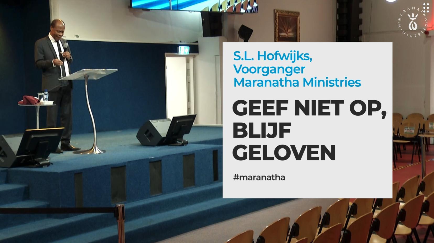 Nieuwe preek: Geef niet op, blijf geloven
