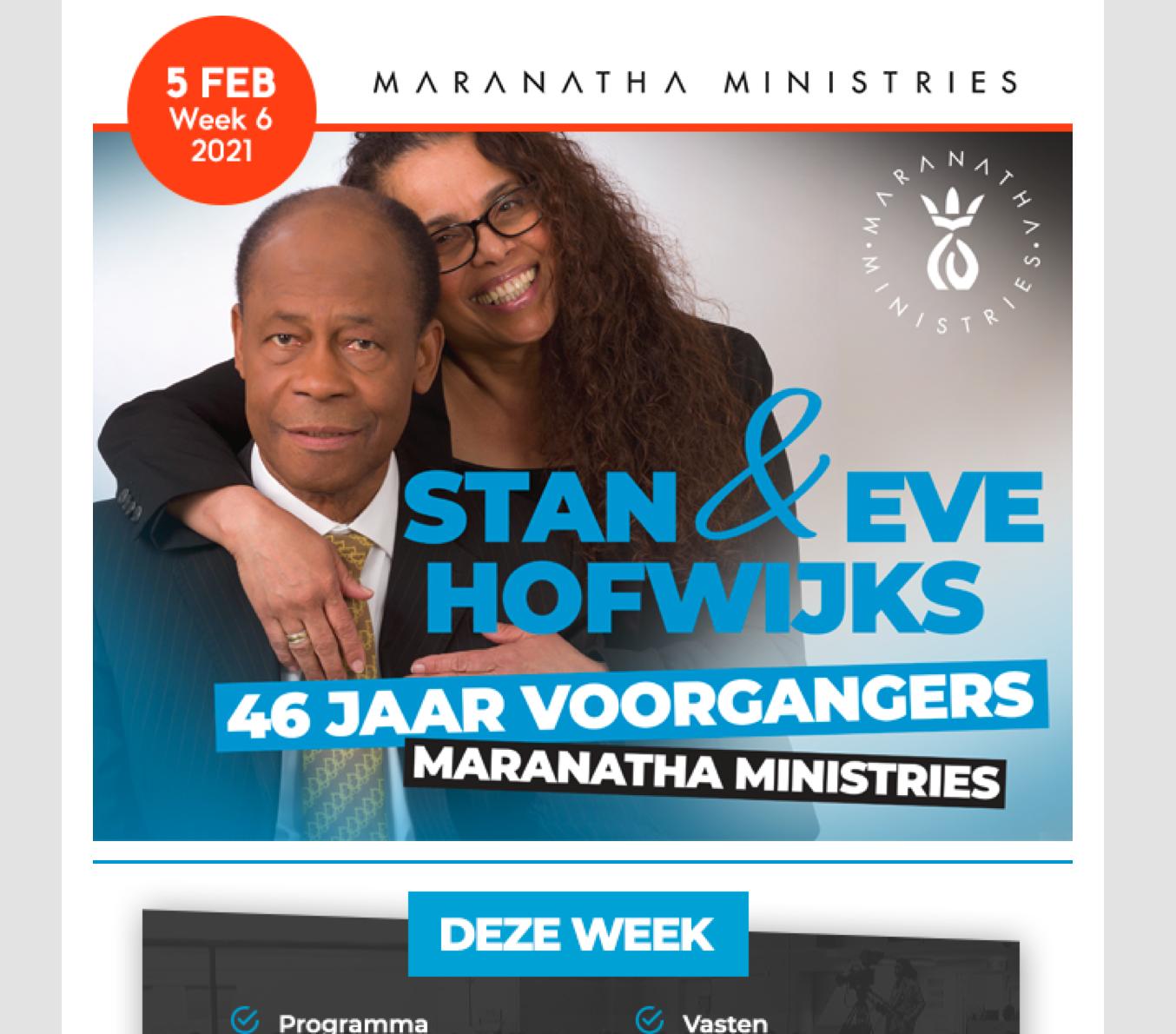 Maranatha eNews week 6, 2021