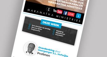 Maranatha eNews Week 16